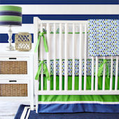 Caden Lane Preppy Boy Navy Crib Set