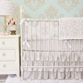 Caden Lane Vintage Taupe Crib Set