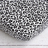 Caden Lane Girly Aqua Leopard Crib Sheet