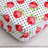 Caden Lane Girly Coral Rose Crib Sheet