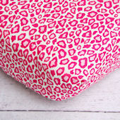 Caden Lane Girly Pink Leopard Crib Sheet