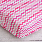 Caden Lane Girly Zig Zag Crib Sheet