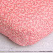 Caden Lane Ikat Coral Girl Crib Sheet