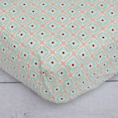 Caden Lane Lovely Coral Lace Crib Sheet
