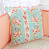 Caden Lane Lovely Coral Lace Pillow