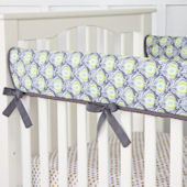 Caden Lane Blue Peacock Crib Rail Protector