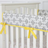 Caden Lane Bright Baby Gray Crib Rail Protector