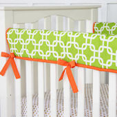 Caden Lane Bright Baby Green Crib Rail Protector