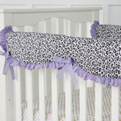 Caden Lane Girly Purple Leopard Rail Protector