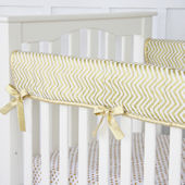 Caden Lane Gold Chevron Crib Rail Protector