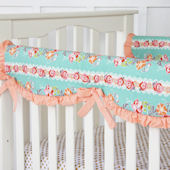Caden Lane Loveley Coral Lace Crib Rail Protector