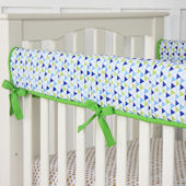 Caden Lane Preppy Boy Navy Crib Rail Protector