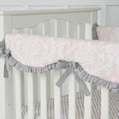 Caden Lane Sweet Lace Damask  Crib Rail Protector