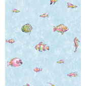 Candice Olson Light Blue Under the Sea  Wallpaper