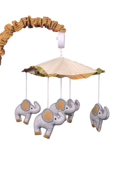 Cotton tale elephant brigade crib mobile the frog and for Princess crib mobile