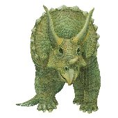 Triceratops Dinosaur Peel and Stick Wall Mural