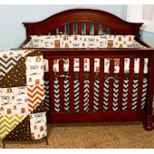 N. Selby Whoos There 4 Piece Crib Set