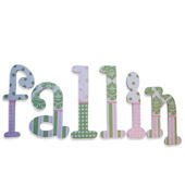 Pink and Green Delight  Wooden Wall Letters