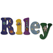 Riley  Wooden Wall Letters