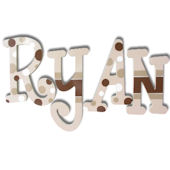 Ryan  Wooden Wall Letters