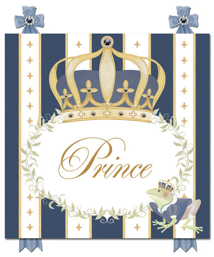 Dish And Spoon Posh Prince Crown Canvas Wall Art The
