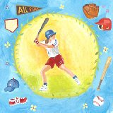 Baseball Star Girl Wall Art