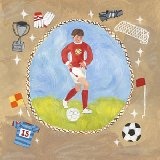 Soccer Star Boy Wall Art