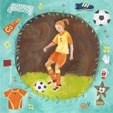 Soccer Star Girl Wall Art