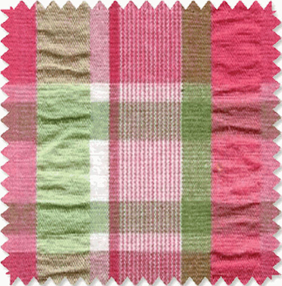 pink and green curtains