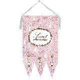 Sweet Dreams Pink Wall Hanging by Drooz Studio