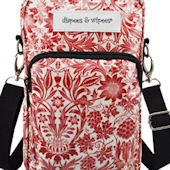 Diapees and Wipes Red Hipster Diaper Bag