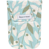 Lily Leaf Blue  Diapees and Wipees Waterproof