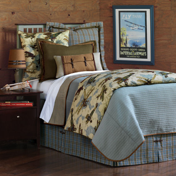 Eastern Accent Aviator Bedding Set The Frog And The Princess
