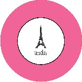 Take Me To Paris Pink Personalized Dinnerware