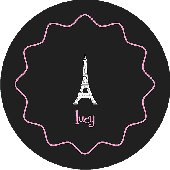 Take Me To Paris Black Personalized Dinnerware