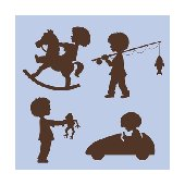 Elephants on the Wall Silhouette Boys Wall Mural