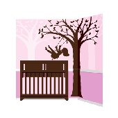 Elephants on the Wall Silhouette Swing Mural