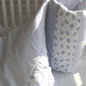Ella and Bee Baby Blue Crib Quilt