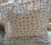 Ella and Bee Baby Blue Flange Pillow