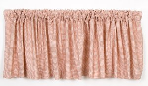 Emma Microcheck Window Valance