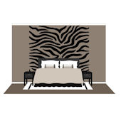 Large Zebra Stripes  Wall Mural