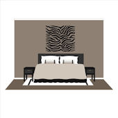 Small Zebra Stripes  Wall Mural
