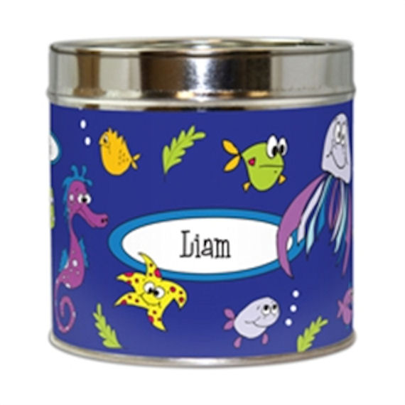Frecklebox Fishy Fishes  Personalized Piggy Bank