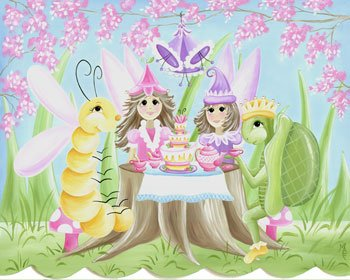 Fairy Tea Party Wall Hanging