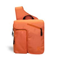 Fleurville Orange Ballistic DJ Diaper Bag
