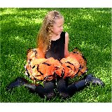 Flourishes Halloween Orange Ribbon Tutu