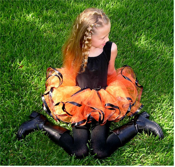 Flourishes Ribbon Ballet Skirt Tutu Orange Black