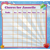 Frecklebox Dreams Personalized Chore Chart