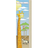 Frecklebox Giraffe Personalized Growth Chart