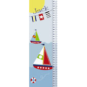 Frecklebox Sailboat Personalized Growth Chart